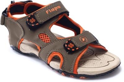 Flaps Men Beige, Orange Sandals