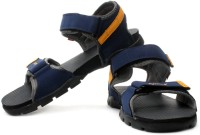 Sparx Men Navy Blue Yellow Sports Sandals