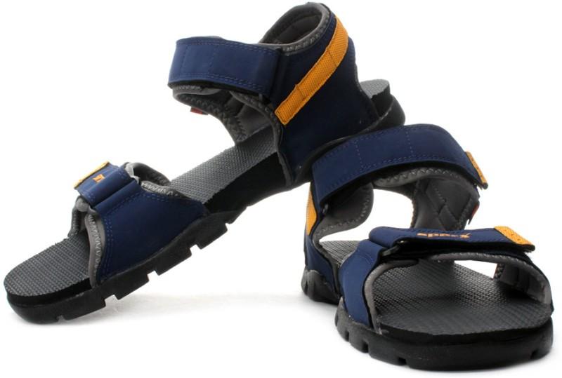 Sparx Men Blue Black Yellow Sports Sandals