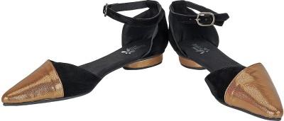 Amica Slexia Women Black, Brown Flats