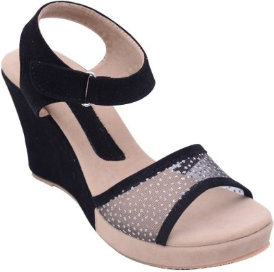 Mobiroy Women Black Wedges