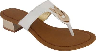 Shoe Bazar Women White Heels