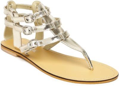 Dressberry Women Gold Flats