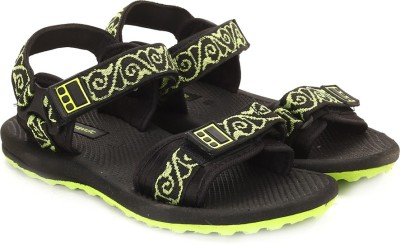 Terravulc Men Black, Green Sports Sandals at flipkart