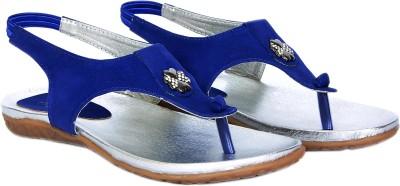 Marie Comfort Girls Blue Sandals