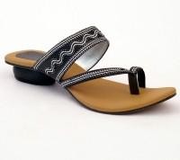 Relexop Women Black Heels