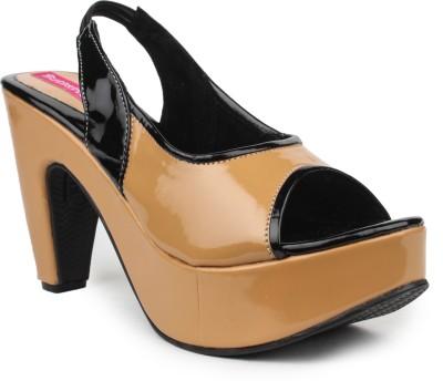 Butterfly Women Tan Heels