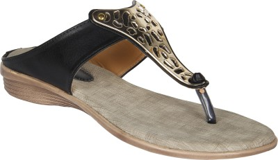 Niremo Black Durable Synthetic Leather Women Black Flats