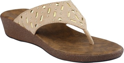 Shoe Bazar Women Beige Wedges