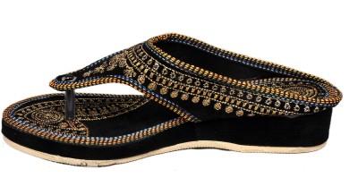 Jaipuriyaa Women Black Wedges