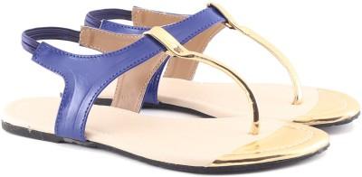 Cenizas Golden Pie Women Blue Flats