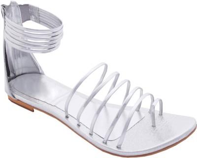 MadeinMyIndia Women Silver Flats