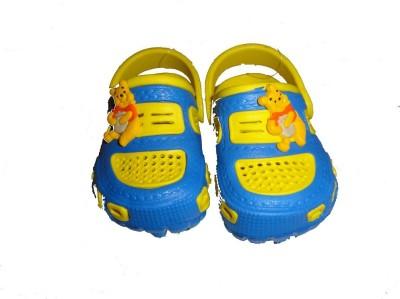 Pu-asmaa Boys, Girls Blue, Yellow Sandals