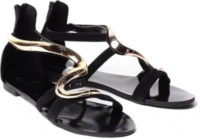 Klaur Melbourne P2998-76-Black Women Black Flats
