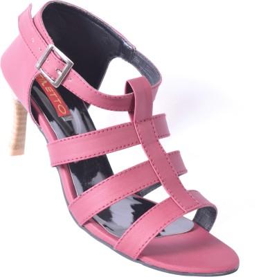 Stiletto Women Maroon Heels