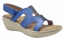 Sammy Women Blue Wedges