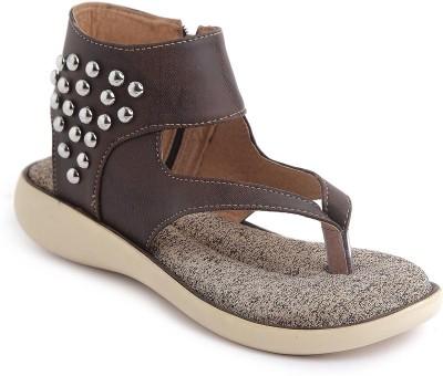 JIPSI Women Brown Flats