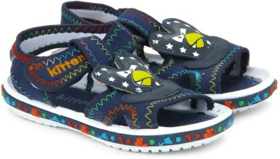 Kittens Boys Navy Sports Sandals