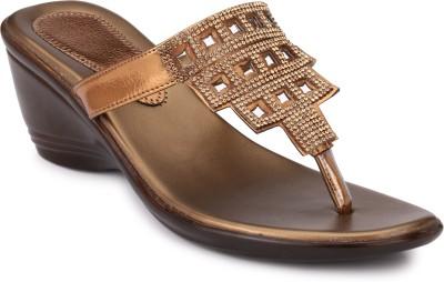 Koyka Women Gold Wedges