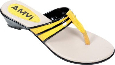Amvi 1F935 Women Yellow Heels