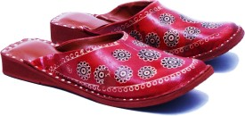 Manthan Women Red Clogs