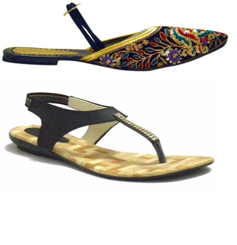 Indirang Women Multicolor Flats SNDEJ3HRMJZ7G4YP