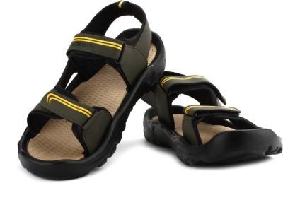 Globalite Capland Men Olive, Yellow Sandals