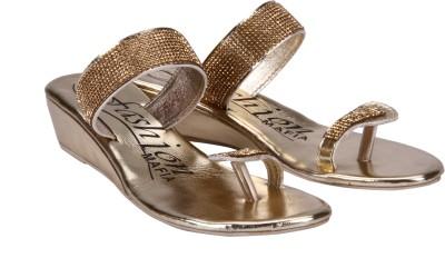 Fashion Mafia Women Gold Wedges