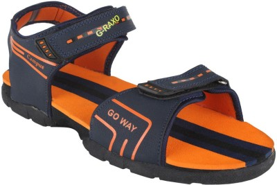 Action Campus Men Blue, Orange Sandals