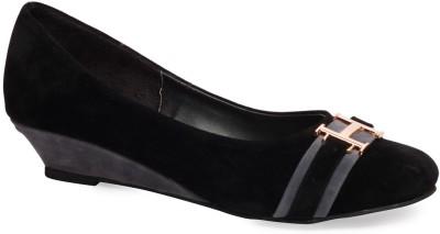La Zilver Women Black Flats