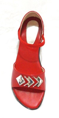 Royal Indian Exposures Baby Girls Red Sandals