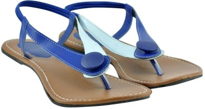 Diovanni Women Blue, White Flats