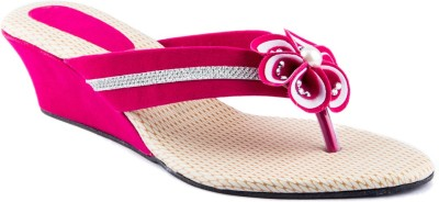 Womens Club Women Pink Wedges