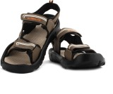 Globalite Men Brown Beige Sports Sandals