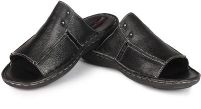Leather King Chicago Black Men Black Sandals