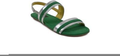 Get Glamr Women Green Flats