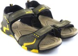 Lotto Men Olive/Yellow Sports Sandals