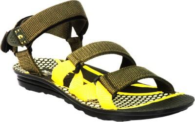 Fuoko Men, Boys Grey, Yellow Sandals