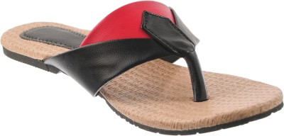 Cws Women, Girls Black, Red Flats