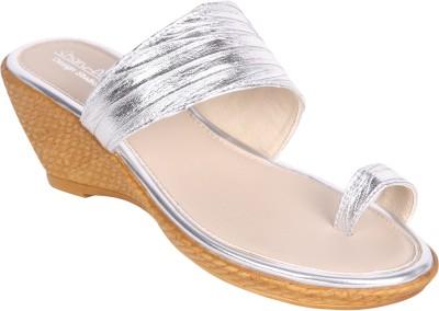 Charu- Diva Design Studio Women Silver Wedges