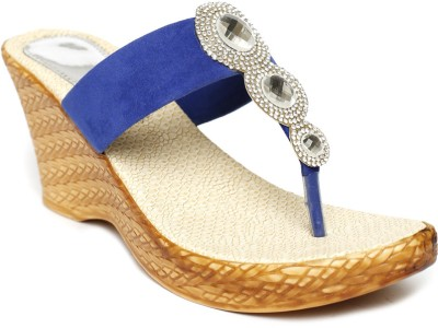 Foot Jewel Blue Women Blue Wedges