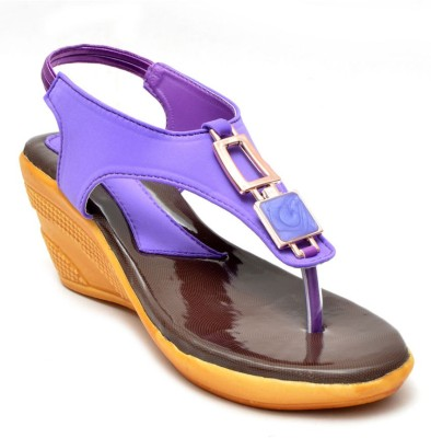 Lee Walk Women Purple Wedges