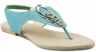 Laila Collection Women Green Flats