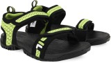 Fila Men BLK/NEO GRN Sandals