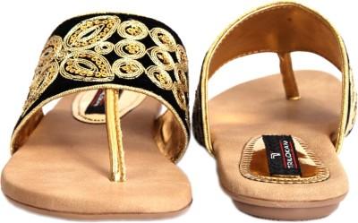Trilokani Super Fancy Women Black Flats