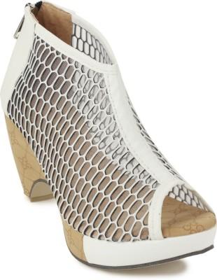 SBF Women White Heels