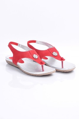 Marie Comfort Girls White, Red Sandals