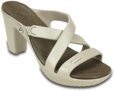Crocs Women White Heels