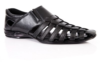 King Step Charming And Stylish Men Black Sandals