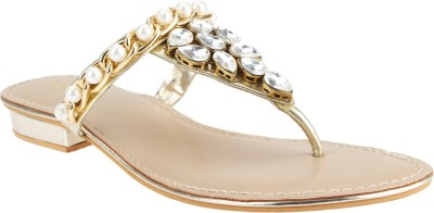 El Cisne Women Gold Flats
